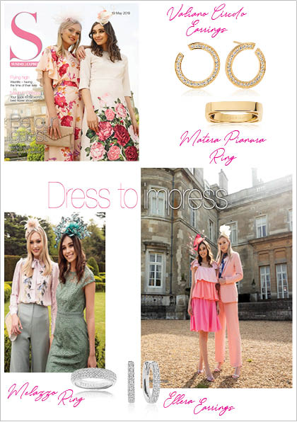 Sif Jakobs Jewelery Rings and Earrings in Sunday Express - Silver - Gold - White Zirconia