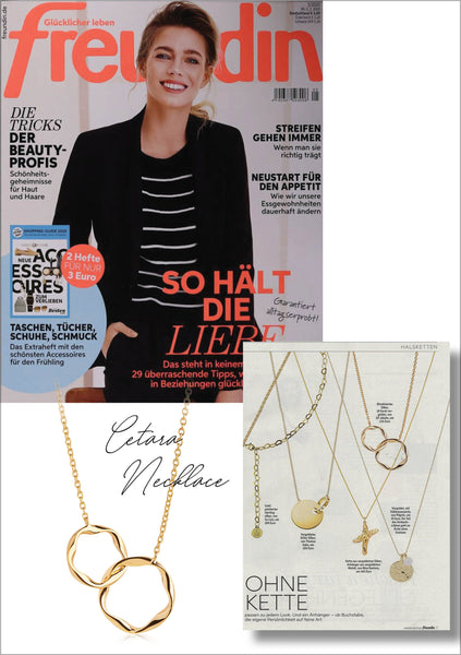 Sif Jakobs Jewellery Cetara necklace in Freudin - gold