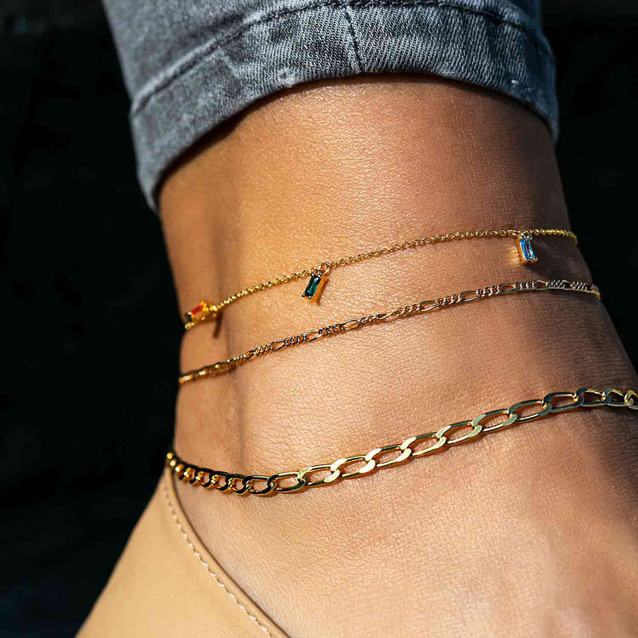 Ankle Chain Cheval - 18k gold plated