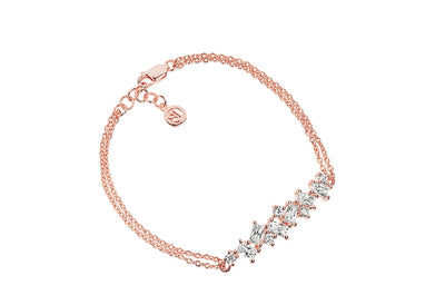 Bracelet Antella - 18k rose gold plated with white zirconia