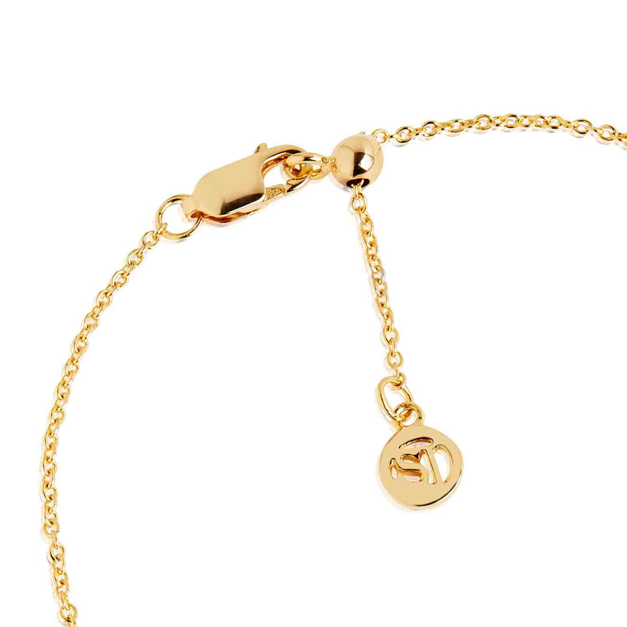 Bracelet Princess Baguette - 18k gold plated with white zirconia