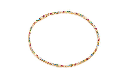 Bracelet Ellera - 18k gold plated with multicoloured zirconia