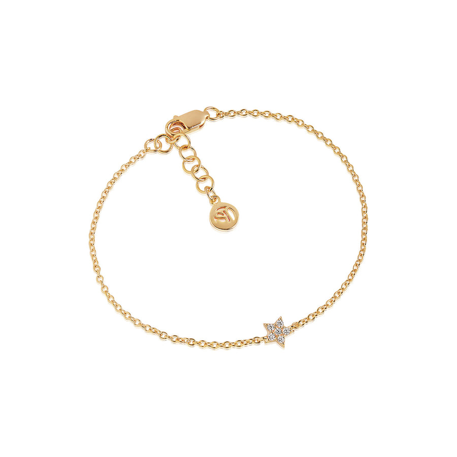 Bracelet Mira - 18k gold plated with white zirconia