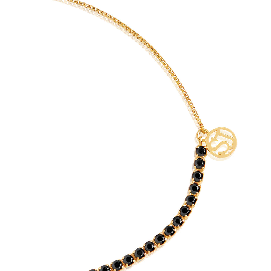 Bracelet Ellera Tennis - 18k gold plated with black zirconia