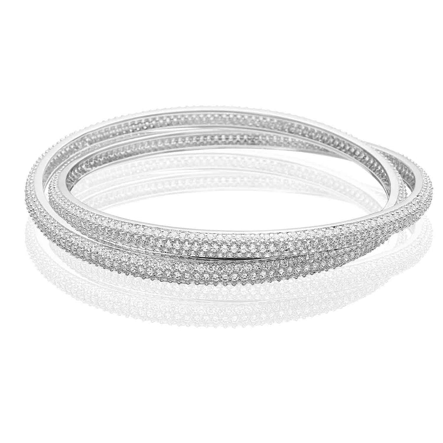 Bangle Catania with white zirconia