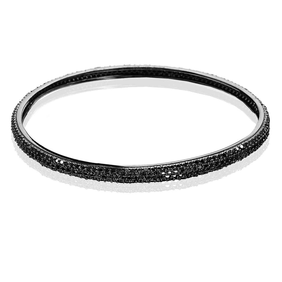 Bangle Catania Uno with black zirconia