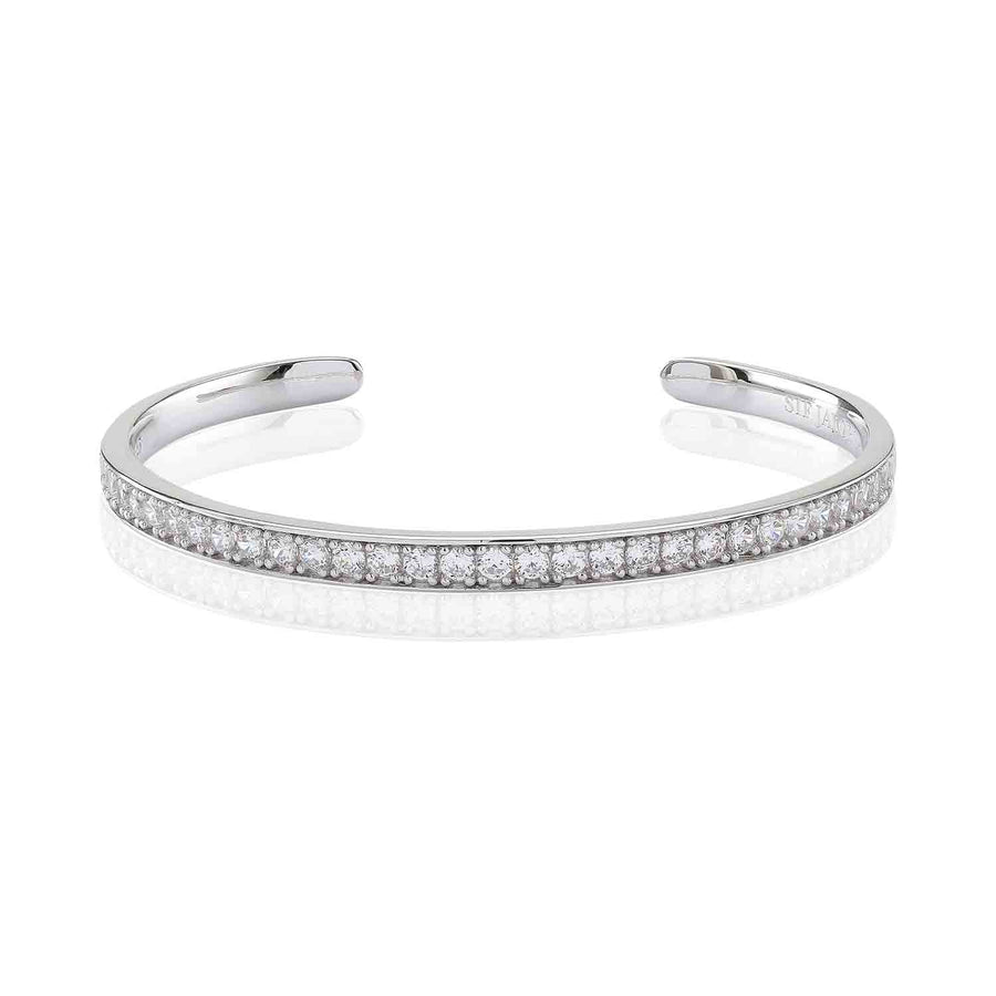 Bangle Simeri with white zirconia
