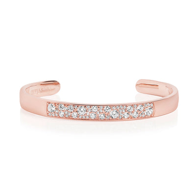 Bangle Novara - 18k rose gold plated with white zirconia