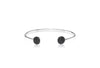 Bangle Sacile with black zirconia