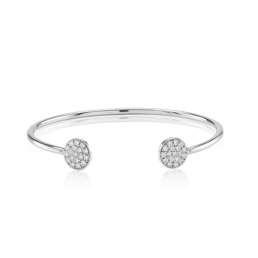Bangle Sacile with white zirconia