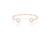 Bangle Biella - 18k rose gold plated with white zirconia