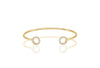Bangle Biella - 18k gold plated with white zirconia