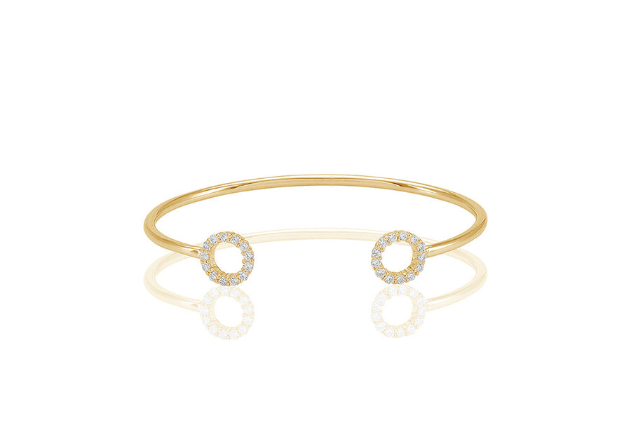 Bangle Biella - 18k gold plated with white zirconia - Sif Jakobs Jewellery