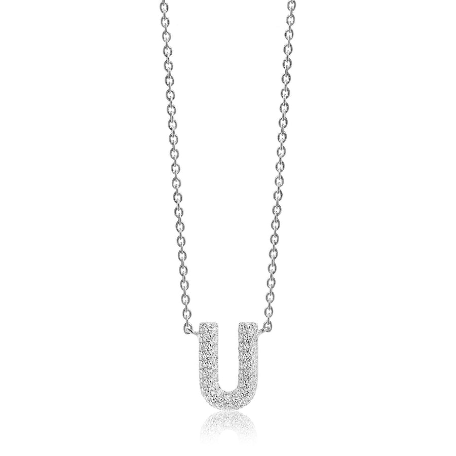 Necklace Novoli U with white zirconia