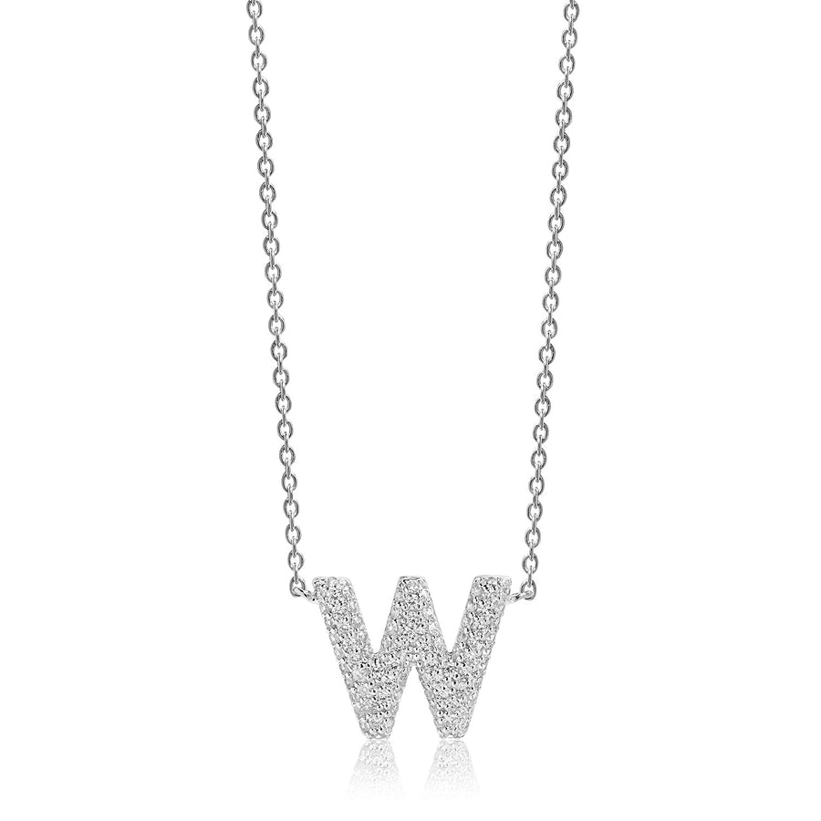 Necklace Novoli W with white zirconia