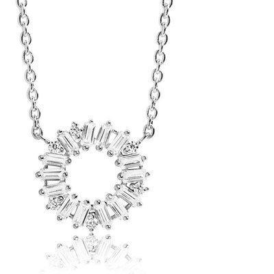Necklace Antella Circolo with white zirconia