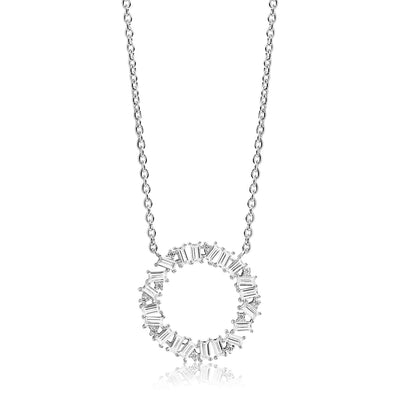 Necklace Antella Circolo Grande with white zirconia