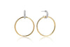 Earrings Itri Grande - 18k gold plated with white zirconia