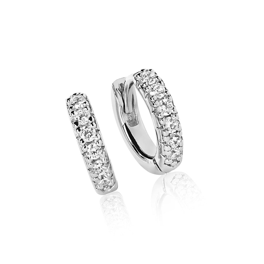 Earrings Ellera Piccolo with white zirconia