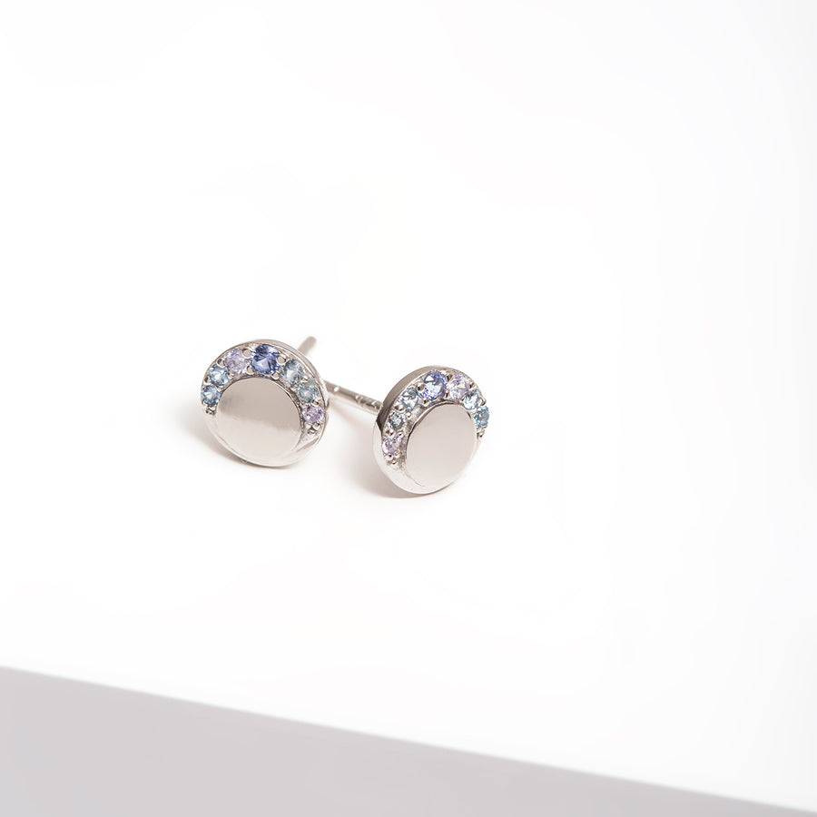 Earring Portofino Piccolo with blue zirconia