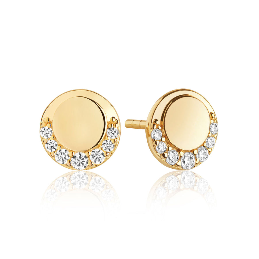 Earrings Portofino Piccolo - 18k gold plated with white zirconia
