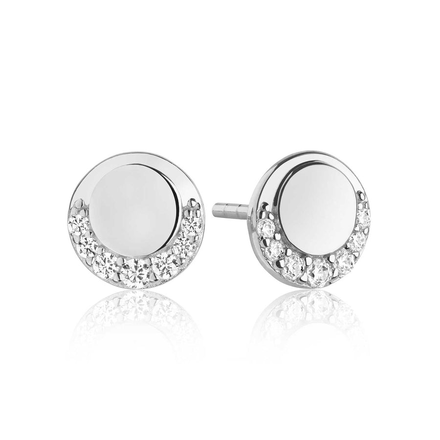 Earrings Portofino Piccolo with white zirconia