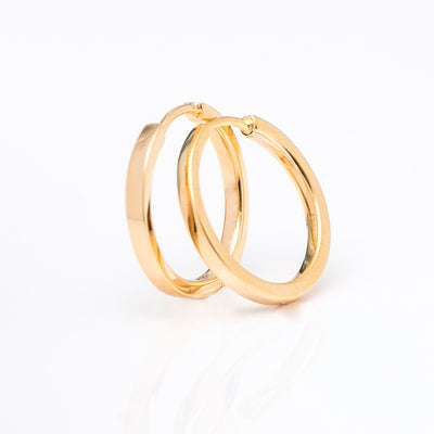 Earrings Ellera Pianura Grande - 18k gold plated