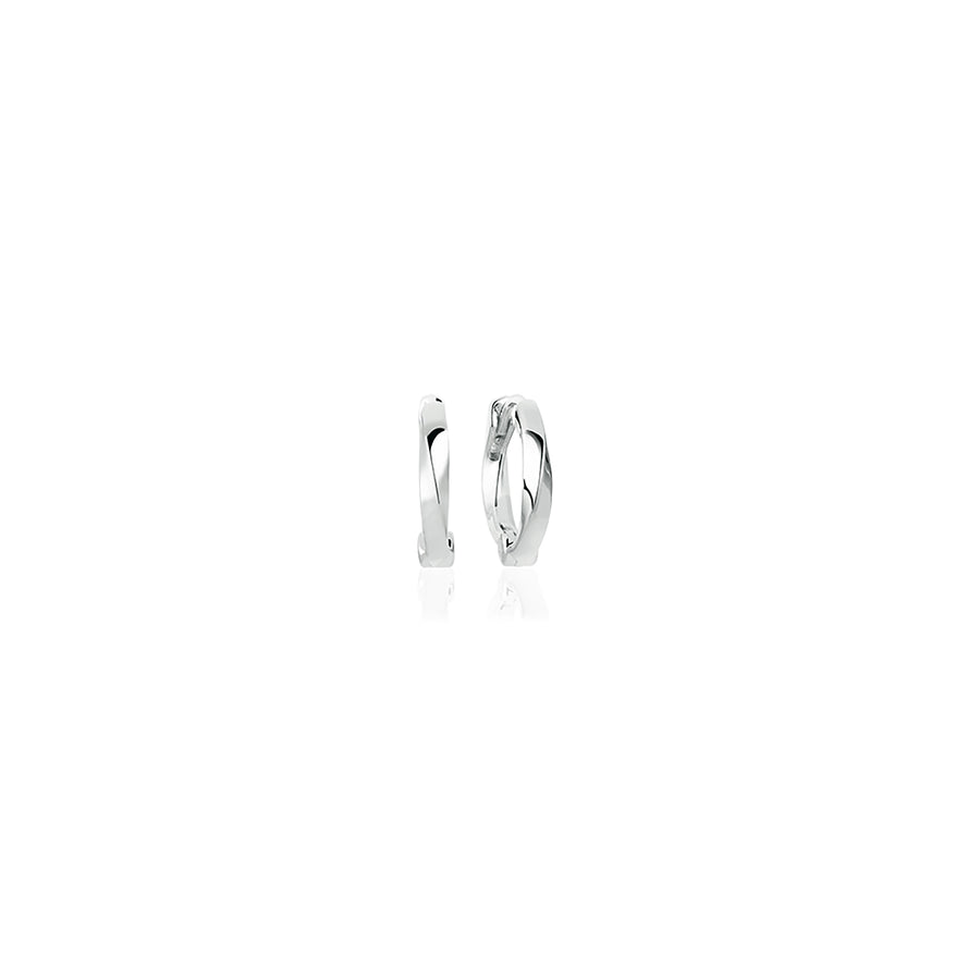 Earrings Ferrara Piccolo Pianora with white zirconia