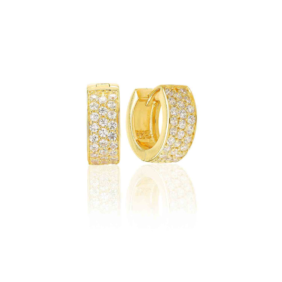 Earrings Empoli - 18k gold plated with white zirconia