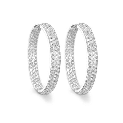 Earrings Catania with white zirconia