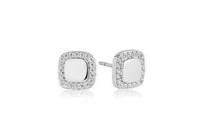 Earrings Follina Quadrato with white zirconia