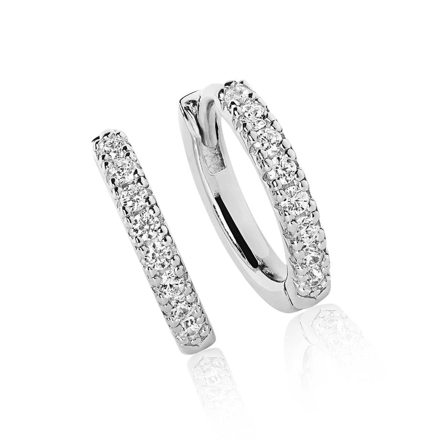 Earrings Ellera with white zirconia