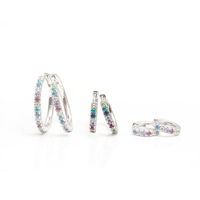 Earrings Ellera with multicoloured zirconia