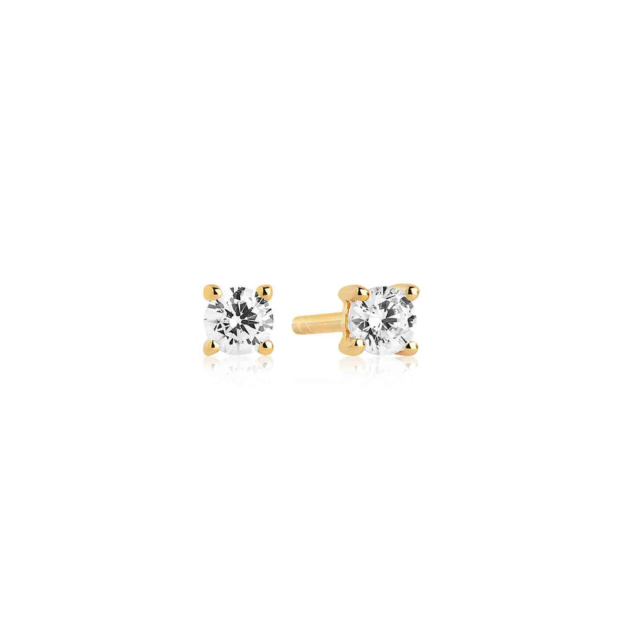 Earrings Princess Piccolo - 18k gold plated with white zirconia