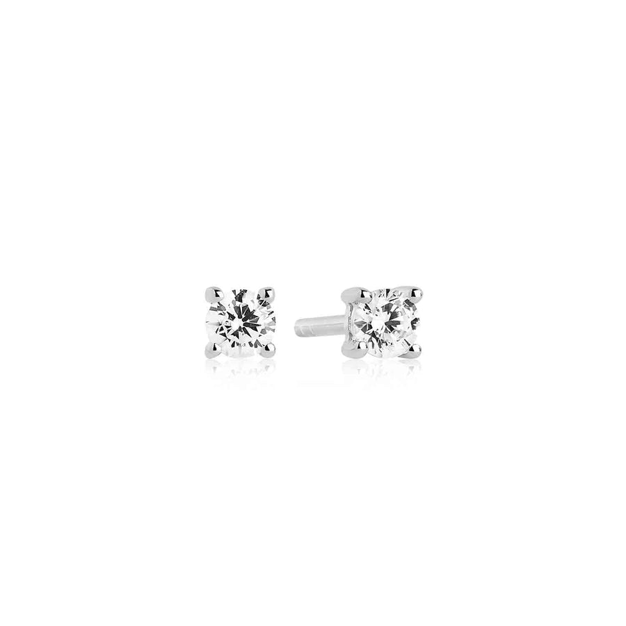 Earrings Princess Piccolo with white zirconia