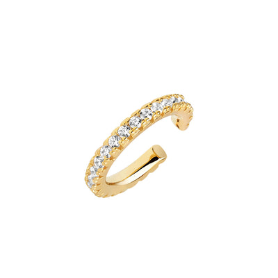 Ear cuff Ellera Piccolo - 18k gold plated with white zirconia