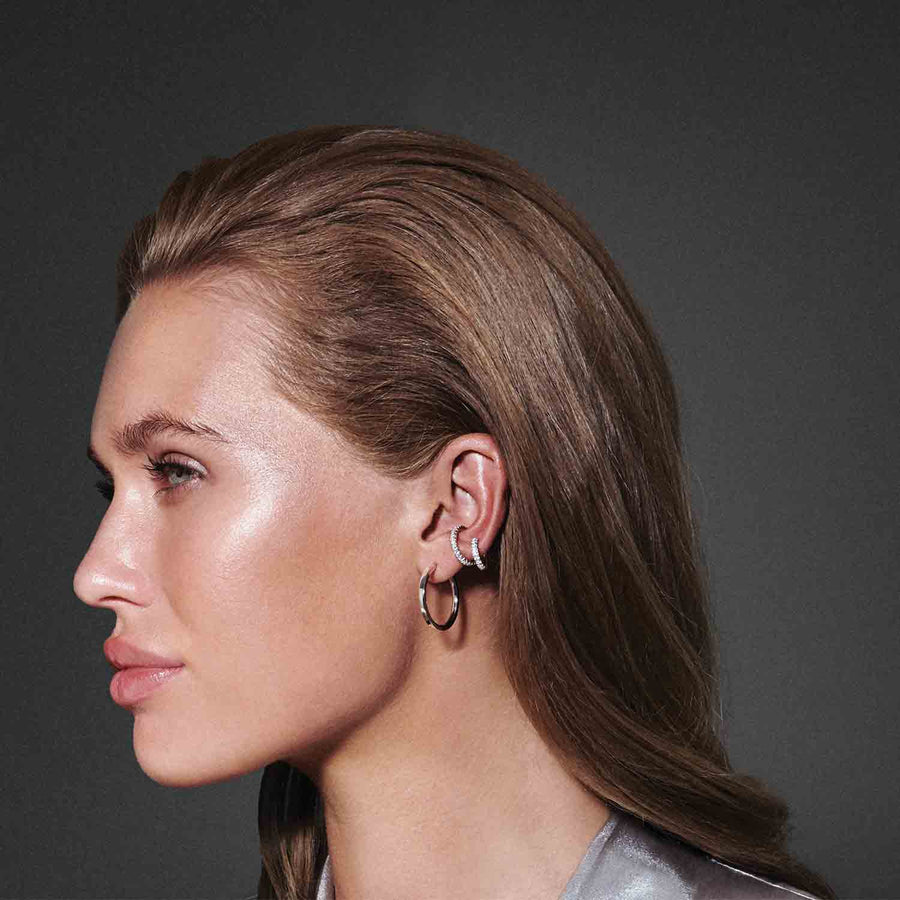 Ear cuff Ellera Piccolo with white zirconia