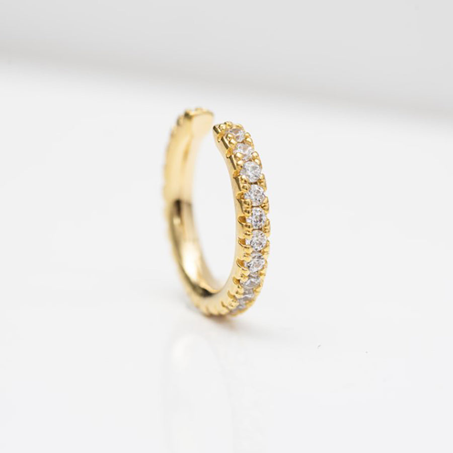 Ear cuff Ellera - 18k gold plated with white zirconia
