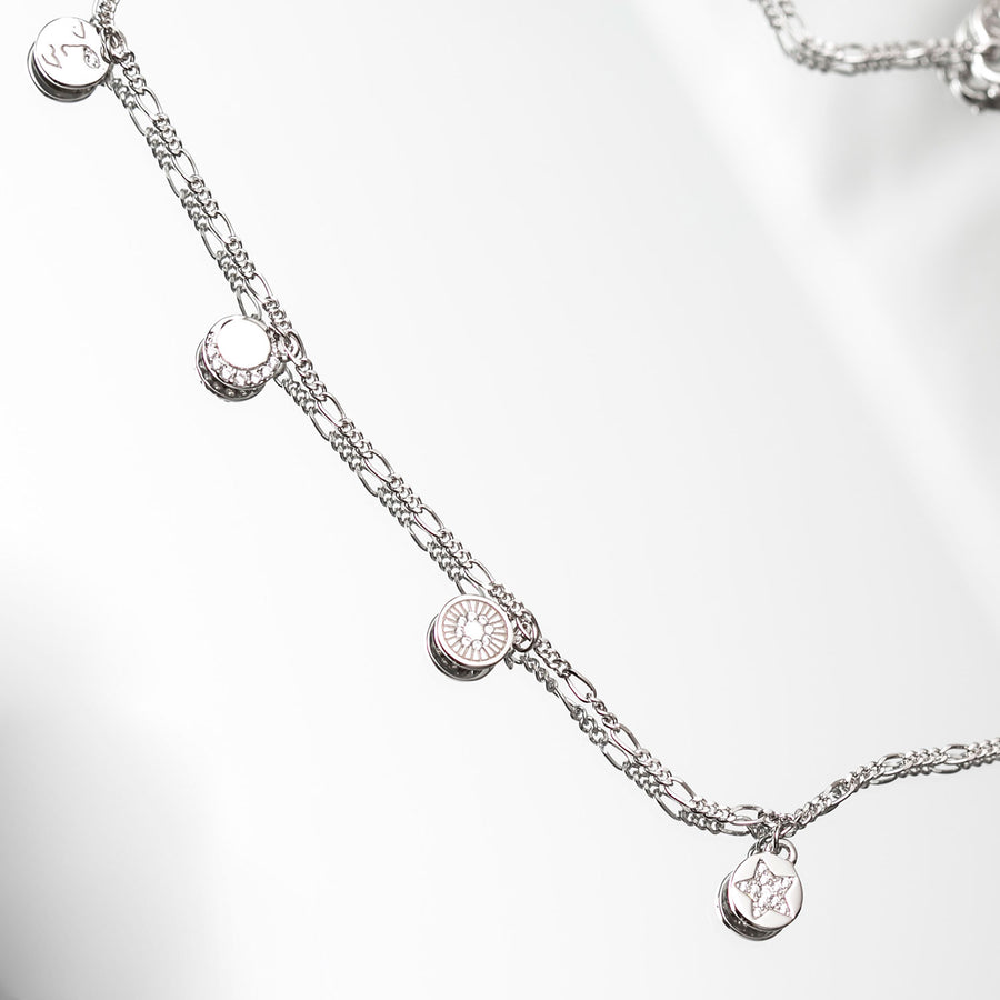 Necklace Portofino with white zirconia