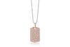 Pendant Gemmano - 18k rose gold plated with white zirconia (45 cm)