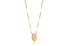 Pendant Imperia - 18k gold plated with white zirconia