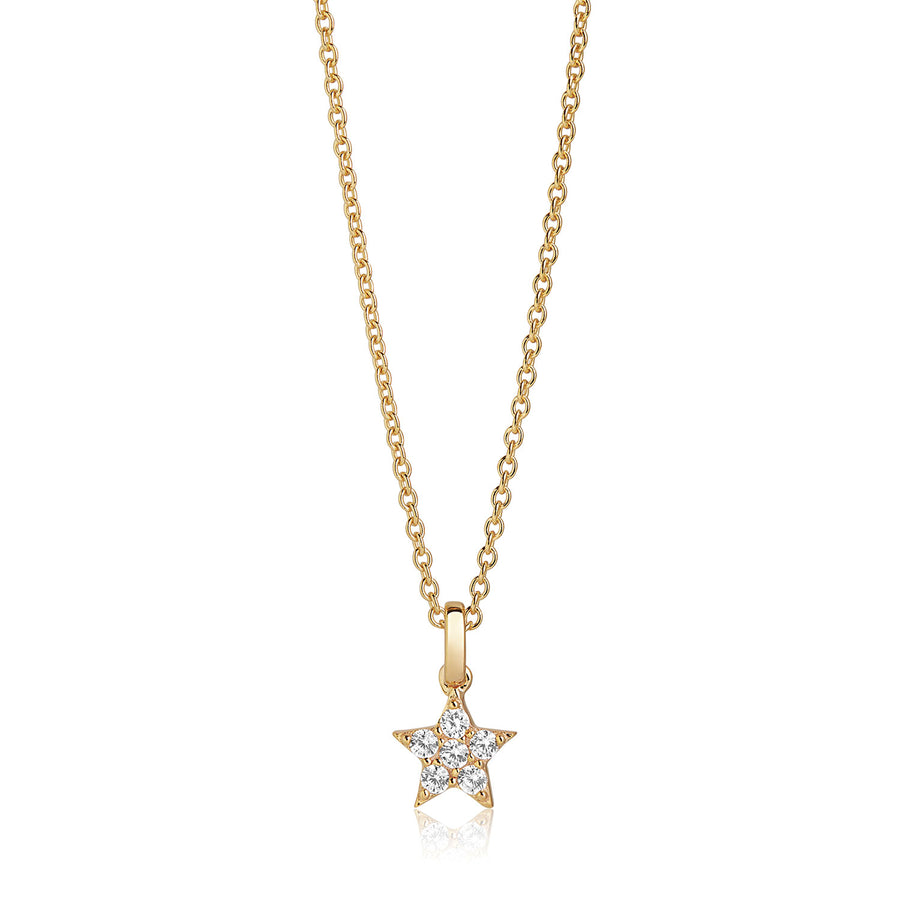 Pendant Mira - 18k gold plated with white zirconia