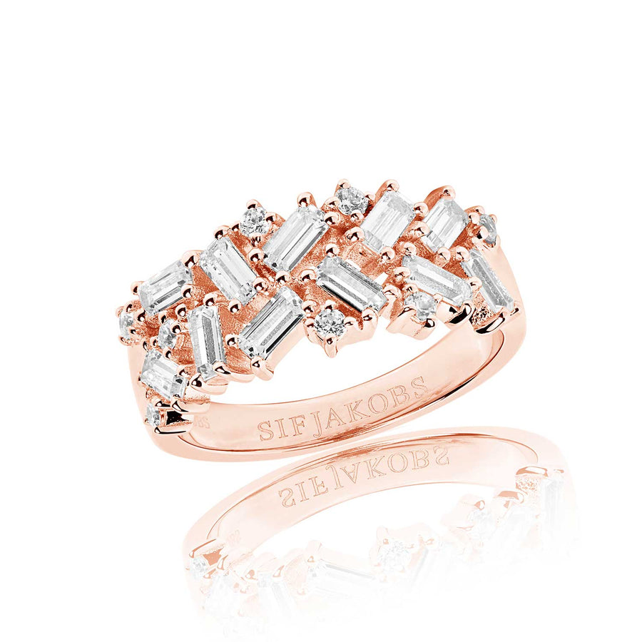 Ring Antella - 18k rose gold plated with white zirconia (50)