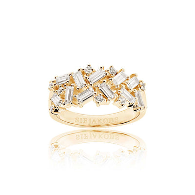 Ring Antella - 18k gold plated with white zirconia (50)