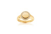 Ring Follina Piccollo - 18k gold plated with white zirconia