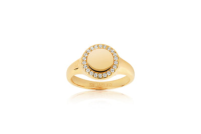 Ring Follina Piccolo - 18k gold plated with white zirconia - Sif Jakobs Jewellery
