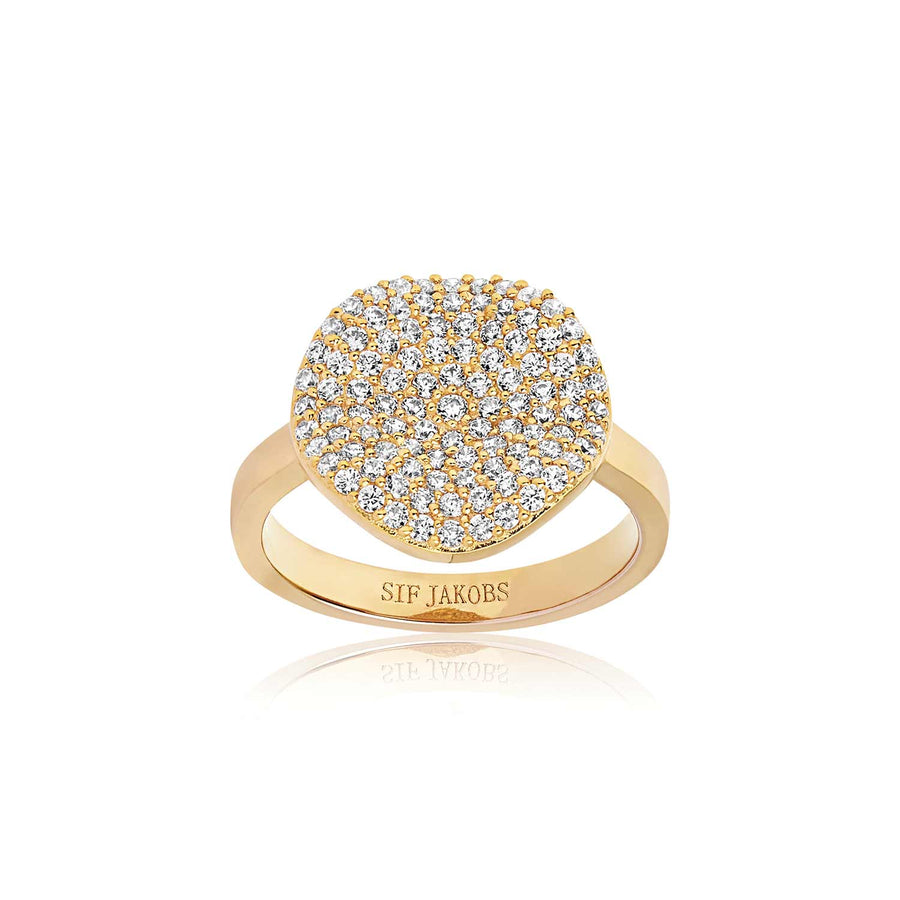 Ring Monterosso - 18k gold plated with white zirconia