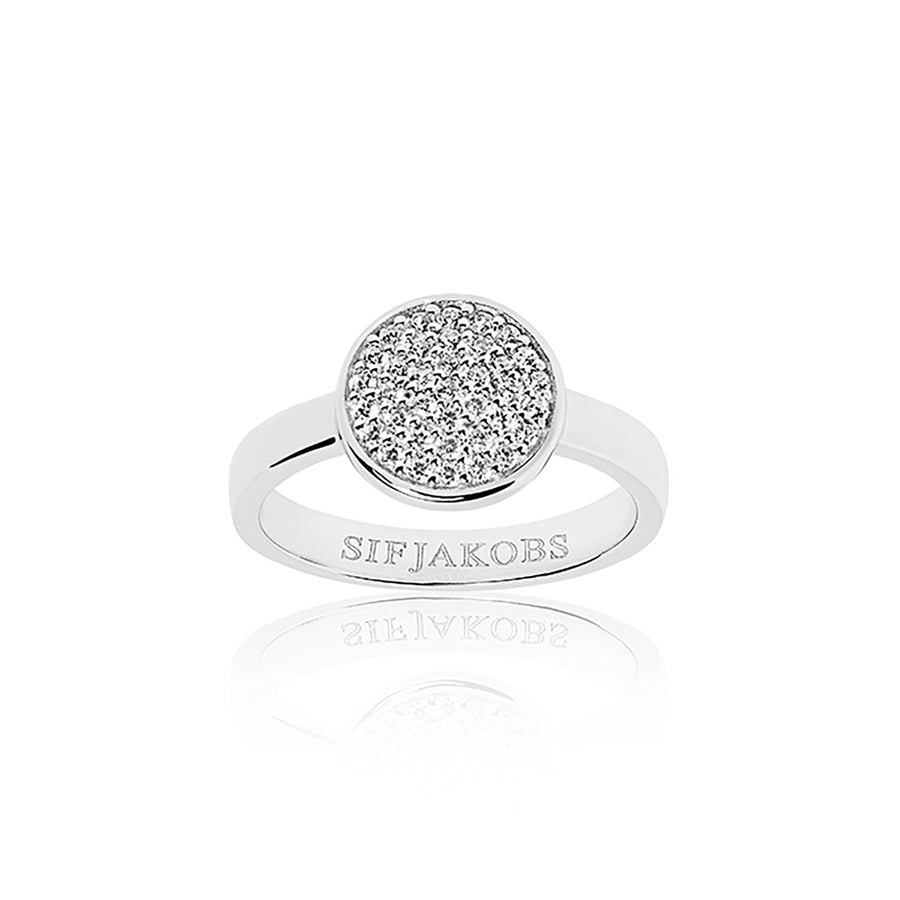 Ring Sacile Uno with white zirconia (50)