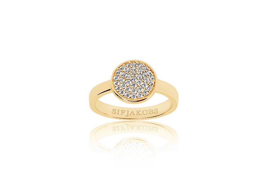 Ring Sacile - 18k gold plated with white zirconia (50)