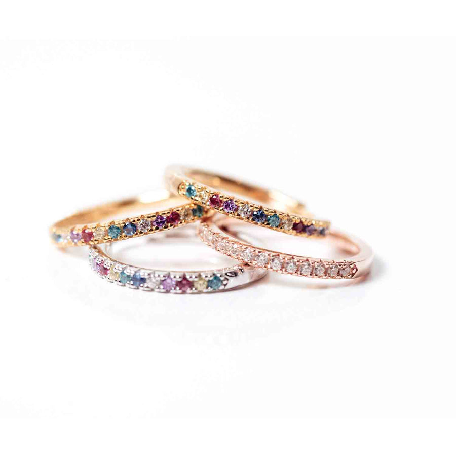 Ring Ellera with multicoloured zirconia